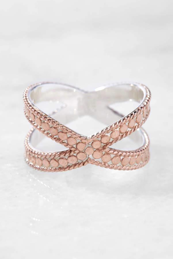 Anna Beck Rose Gold Cross Ring
