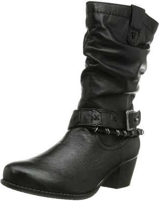 Jana Womens 25354 Unlined Biker Boots Half Length Black Black Size: 5 UK