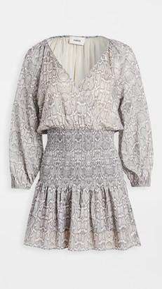 SUBOO Sylvia Shirred Mini Dress