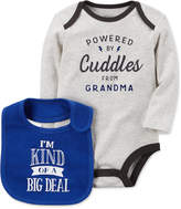 Carter's 2-Pc. Powered By Cuddles Cotton Bodysuit & Bib Set, Baby Boys (0-24 months)