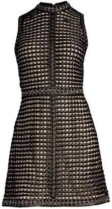 Alice + Olivia Carlotta Studded Leather Mini Dress