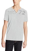 Buffalo David Bitton Men's Narwayne Short Sleeve Slit Neck Fashion Knit Shirt