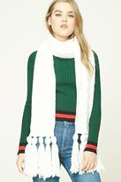 Forever 21 Tasseled Cable Knit Scarf
