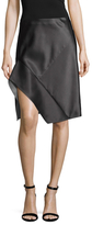 Narciso Rodriguez Silk Bonded Asymmetrical Knee Length Skirt