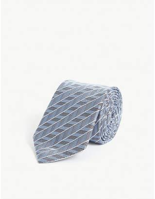 Pal Zileri Herringbone silk tie