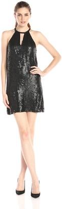 Parker Women's Sansa Halter All Over Embellished Dress
