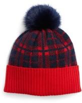 Draper James Women's Carolina Check Pompom Hat - Blue