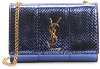 Saint Laurent Small Kate Metallic Snakeskin Shoulder Bag