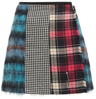 Le Kilt Mix & Match 03 Panelled Wool Mini Skirt - Blue Multi