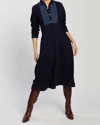 Ralph Lauren RRL Bib-Front Jersey Dress