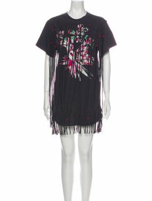 Isabel Marant Printed Mini Dress w/ Tags Grey