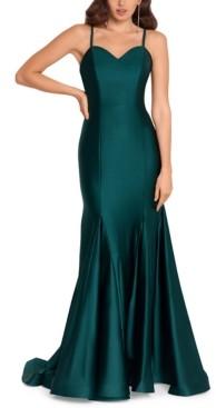 Blondie Nites Juniors' Strappy-Back Mermaid Gown, Created for Macy's