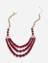 The Limited Faux Gem Gold Tone Multi-Strand Necklace