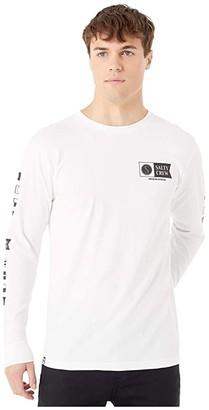 Salty Crew Alpha Long Sleeve Tee (White) Men's T Shirt