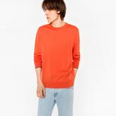 Paul Smith Men's Coral Merino Wool Crew Neck Sweater