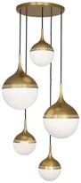 Jonathan Adler Jonathan 5 - Light Cluster Globe Pendant Finish: Antique Brass