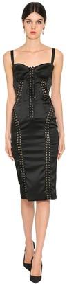 Dolce & Gabbana Stretch Satin Midi Corset Dress