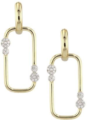 Phillips House Infinity 14K Yellow Gold Diamond Drop Earrings