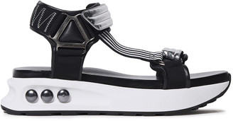 Nicholas Kirkwood Nkp3 Smooth And Faux Mirrored-leather Platform Sandals