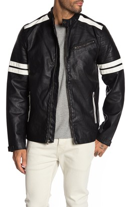 X-Ray Xray Faux Leather Striped Jacket