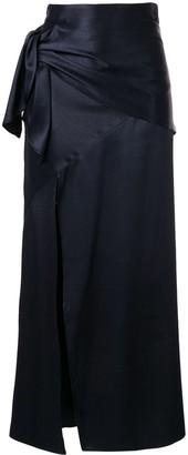 CHRISTOPHER ESBER Side-Tied Maxi Skirt