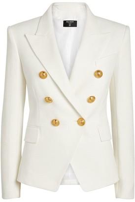Balmain Cotton Pique Double-Breasted Blazer
