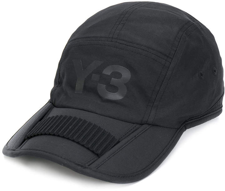 Y-3 logo print cap