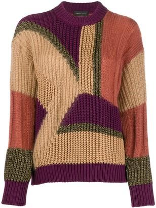 Roberto Collina panelled colour block jumper
