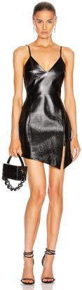 David Koma Leather Cami Dress in Black | FWRD