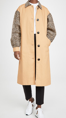ENGLISH FACTORY Combo Leopard Trench