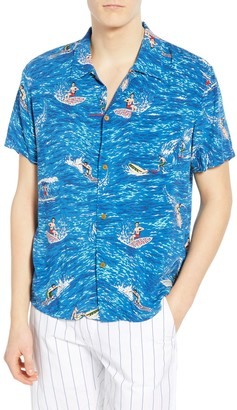 Scotch & Soda Hawaiian Fit Short Sleeve Camp Shirt