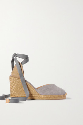 Castaner Net Sustain Chiara 80 Canvas Wedge Espadrilles - Gray
