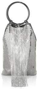 Whiting & Davis Cascade Crystal& Mesh Bracelet Clutch