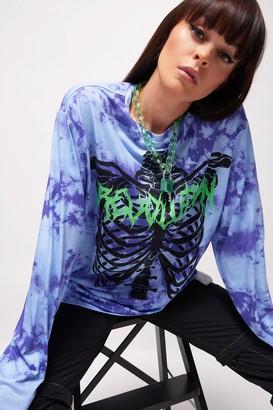 Jaded London Womens **Skeleton T-Shirt By Blue