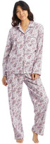 S.O.H.O New York Full Flannel Paisley Pyjamas White