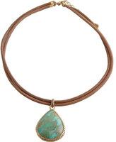 Barse Women's Bronze/Turquoise Earring BASIN31T01B