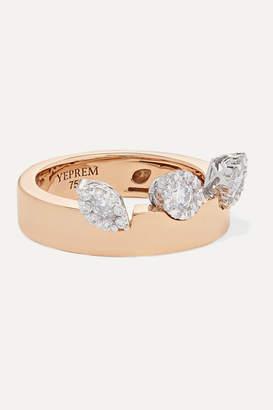 YEPREM Pink Strada 18-karat Rose Gold Diamond Ring - 6 1/2