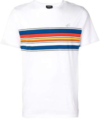 A.P.C. colour print T-shirt