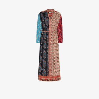 Boteh Darya patchwork Smock Maxi Dress