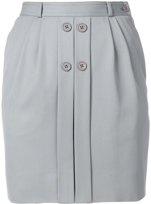 Valentino Pre-Owned Button-Detail Fitted Skirt