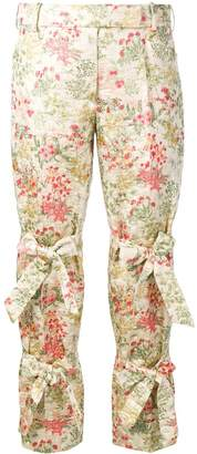 Simone Rocha floral brocade cropped trousers