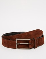 Asos Smart Suede Belt With Stitch Detail