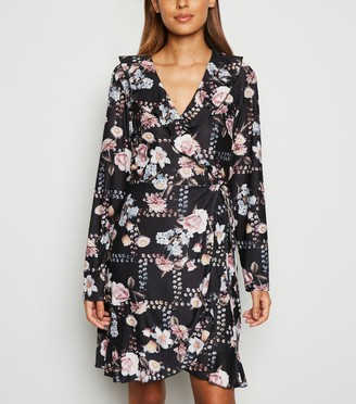 New Look Mela Floral Soft Touch Wrap Dress