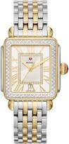 Michele Deco Madison Diamond Dial Watch Head & Two-Tone Bracelet, 33mm