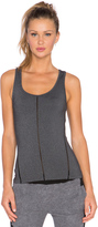 So Low SOLOW Open Embroidered Tank