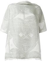 Loewe nautical pattern blouse - women - Silk/Cotton/Linen/Flax - One Size