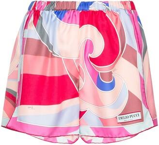 Emilio Pucci Quirimbas silk shorts