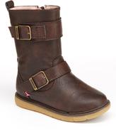 Step & Stride Brown Lara Buckle Boot - Kids