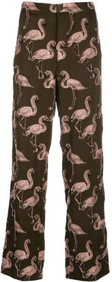 F.R.S For Restless Sleepers Flamingo-Jacqaurd Trousers