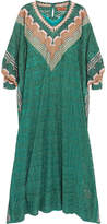 Missoni Metallic Crochet-knit Kaftan - Green